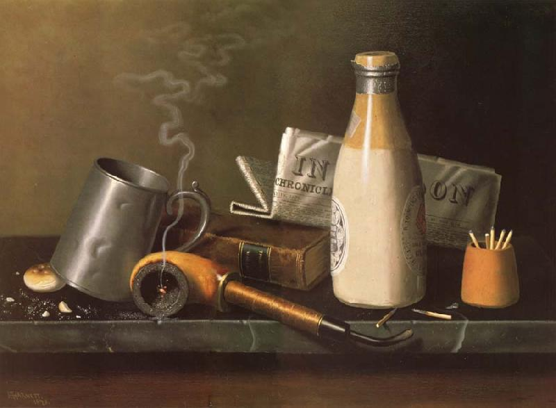 William Michael Harnett Dinge fur eine Mubestunde oil painting image
